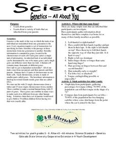 Genetics-All about You Lesson Plan