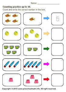 Counting Practice Up To 10 Worksheet