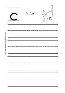 Letter C is for Cat Worksheet