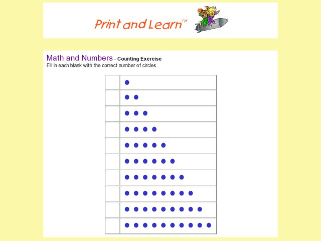 Counting And Writing Numbers 1-20 Worksheet For Pre-K