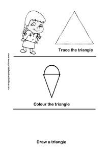 Trace the Triangle Worksheet
