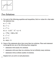Two Solutions Assessment
