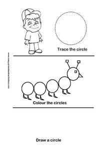Trace, Color, and Draw Circles Worksheet