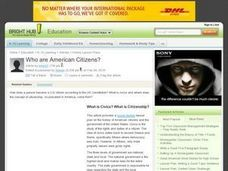 Who are American Citizens? Lesson Plan