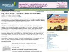 The Proclamation of 1763 Lesson Plan