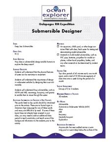 Submersible Designer Lesson Plan