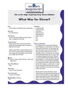 What Was for Dinner? Lesson Plan