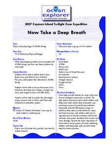 Now Take a Deep Breath Lesson Plan
