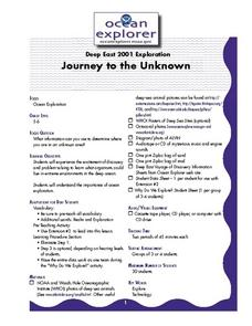 Journey to the Unknown Lesson Plan