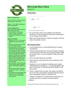 Recycling Relay Race Lesson Plan