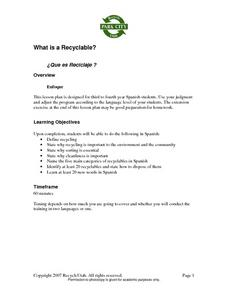 What is a Recyclable? Lesson Plan