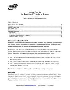 Lesson Plan Aid for Book Punch- A Jar of Dreams Lesson Plan
