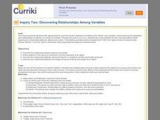 Discovering Relationships Among Variables Lesson Plan