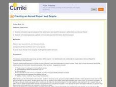 Creating an Annual Report and Graphs Lesson Plan