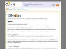 Power of the Press - Time Line Lesson Plan