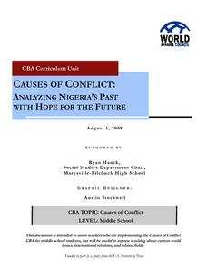 Causes of Conflict:  Analyzing Nigeria's Past With Hope For the Future Lesson Plan