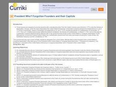 President Who? Forgotten Founders and Their Capitols Lesson Plan