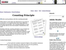 Counting Principle Worksheet