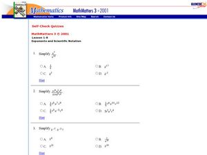 Exponents and Scientific Notation Worksheet