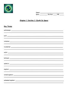 Earth in Space Lesson Plan