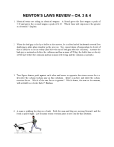 Newton's Laws Review Worksheet