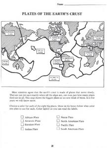 Plates of the Earth's Crust Lesson Plan