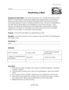 Weathering and Wind Lesson Plan