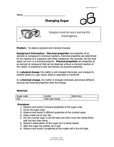 Changing Sugar Lesson Plan