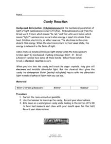 Candy Reaction Lesson Plan
