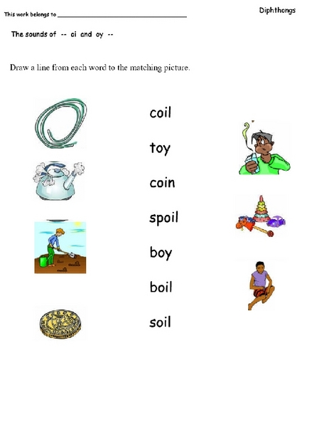 Diphthongs Oi and Oy Lesson Plans & Worksheets Reviewed by Teachers
