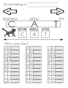 Letter Sequence Chart Worksheet