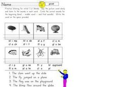 Initial L Blends Worksheet
