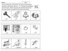 Initial Consonant: K Sound Worksheet