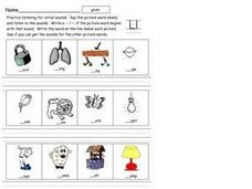 Initial Consonants: Letter L Worksheet