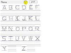 Uppercase Alphabet Practice Worksheet