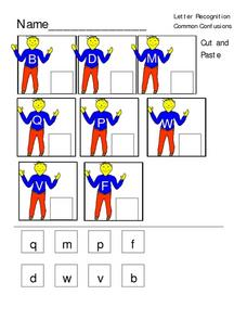 Letter Recognition: Common Confusions Worksheet