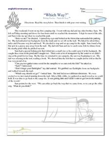 Which Way?: Writing Practice Worksheet