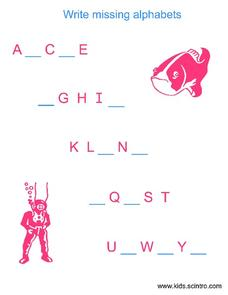 Missing Alphabet Letters Worksheet