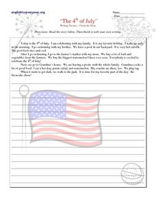 The 4th of July Worksheet