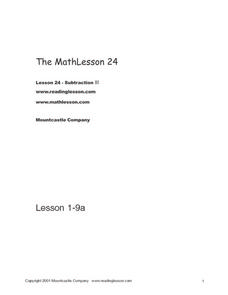 The Math Lesson 24 Worksheet