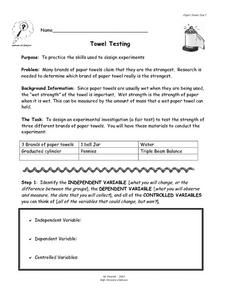 Towel Testing Lesson Plan
