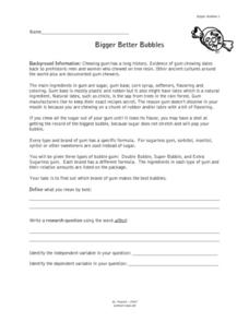 Bigger Better Bubbles Lesson Plan