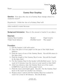 Gummy Bear Graphing Lesson Plan