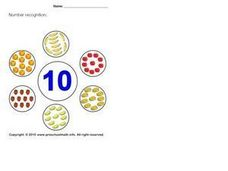 Number Recognition: 10 Worksheet