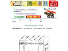 Counting With Colors Worksheet