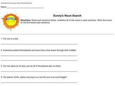 Sunny's Noun Search Worksheet