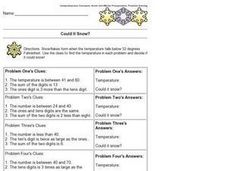 Could it Snow? Worksheet