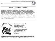 How is a Snowflake Formed Worksheet