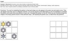 Snowflake Pattern Worksheet