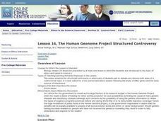 The Human Geonome Project Structured Controversy Lesson Plan